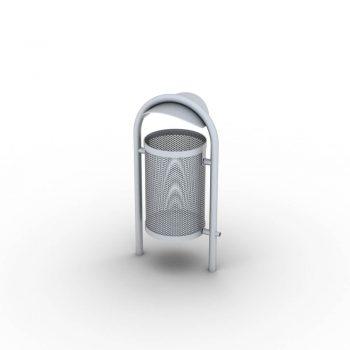 Kos odpadkovy ocelovy 50 L so strieskou (1)